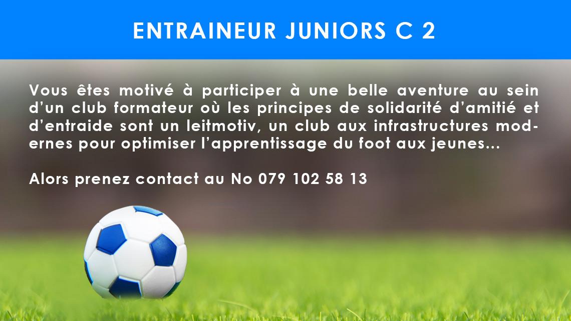 Entraineur juniors C 2