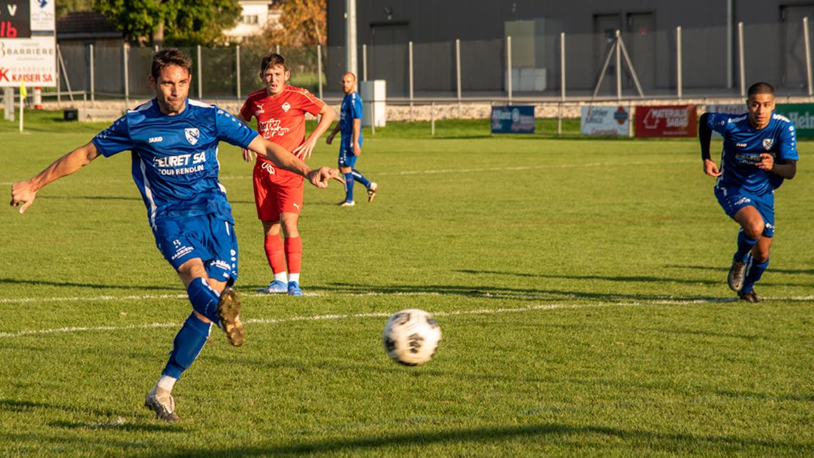 FC Courrendlin - US Boncourt but sur penalty par Garry Germann
